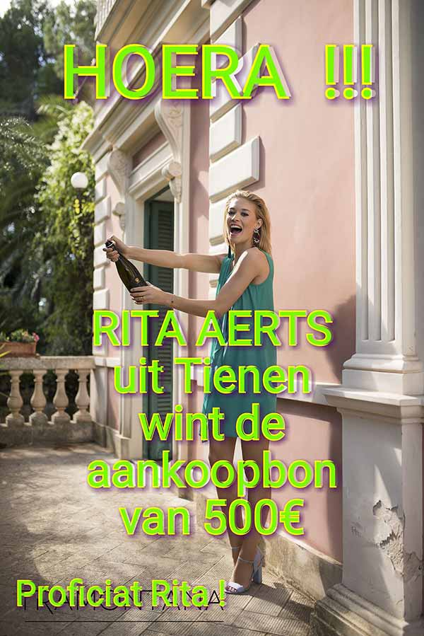 Rita Aerts uit Tienen wint de aankoopbon van 500 Euro