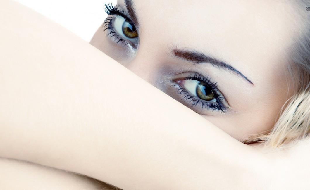 ogen als een topmodel